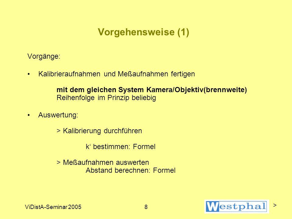 Kalibriervorgang (1) > ViDistA-Seminar 2005