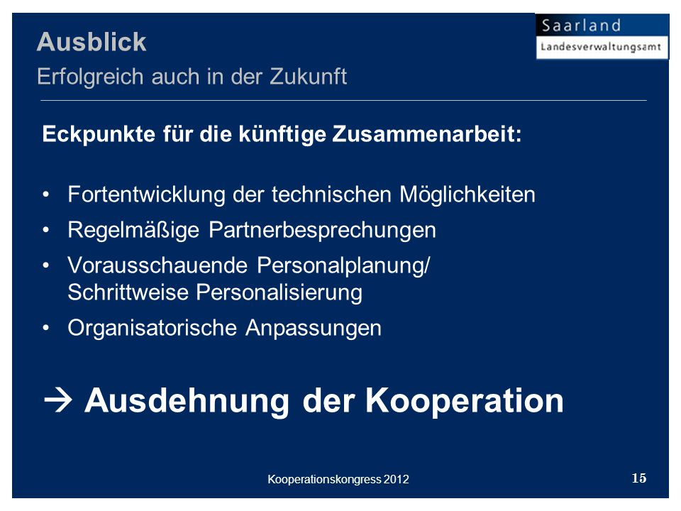 Kooperationskongress 2012