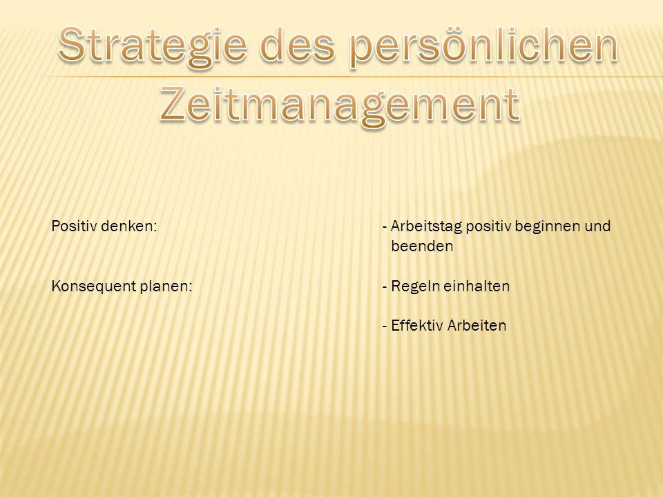 Strategie des persönlichen