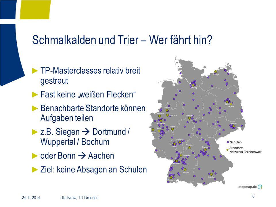 Schmalkalden und Trier – Wer fährt hin