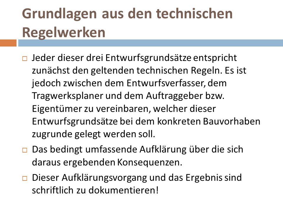 Grundlagen aus den technischen Regelwerken