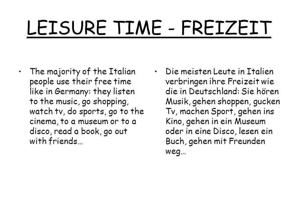 LEISURE TIME - FREIZEIT