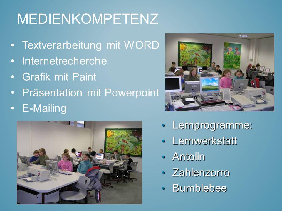 Medienkompetenz Textverarbeitung mit WORD Internetrecherche