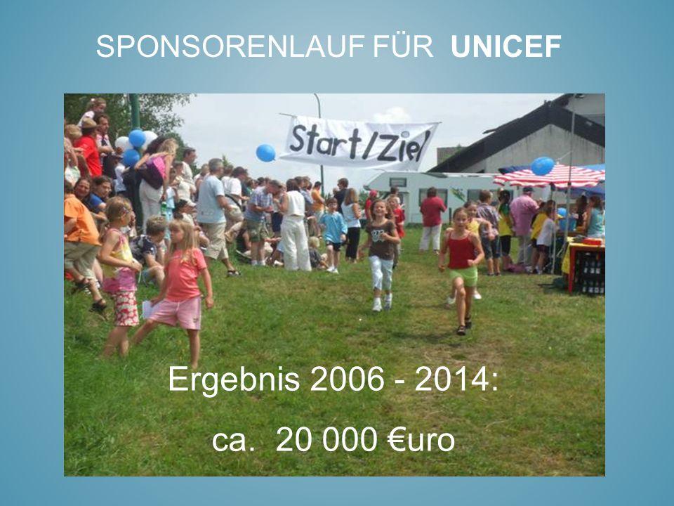 Sponsorenlauf für UNICEF