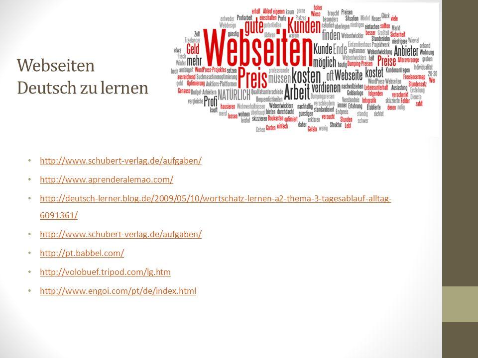 Webseiten Deutsch zu lernen