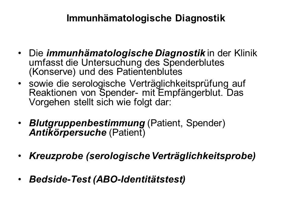 Immunhämatologische Diagnostik