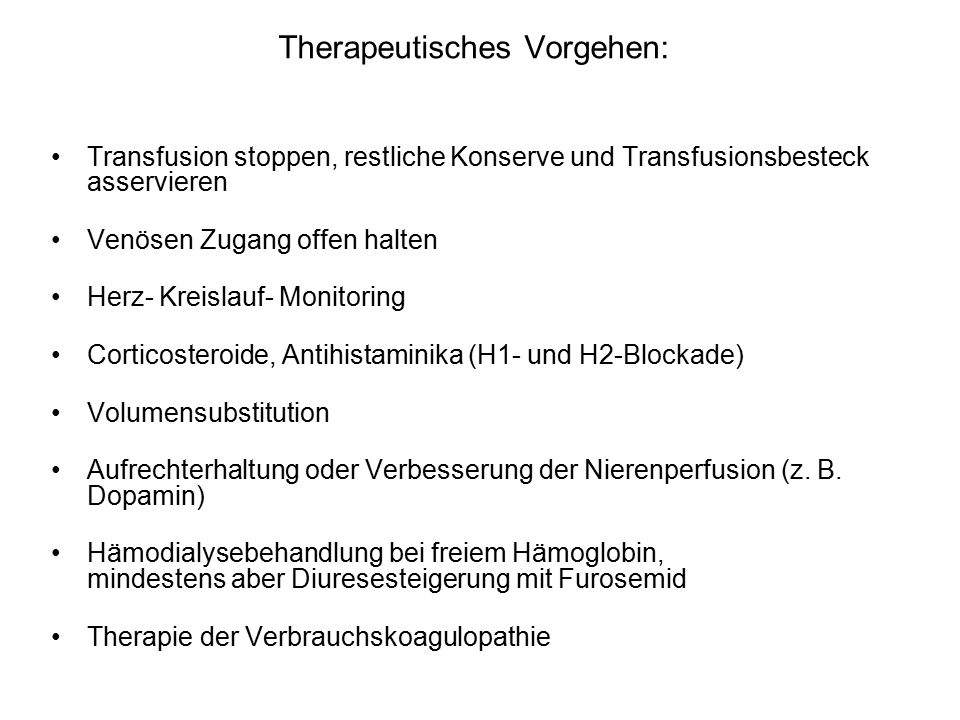 Therapeutisches Vorgehen: