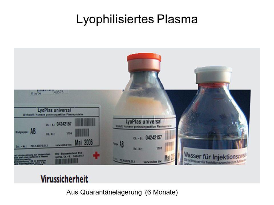 Lyophilisiertes Plasma