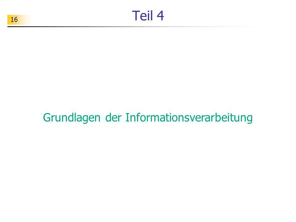 Grundlagen der Informationsverarbeitung