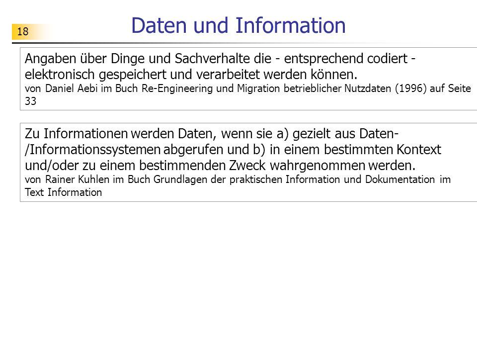 Daten und Information