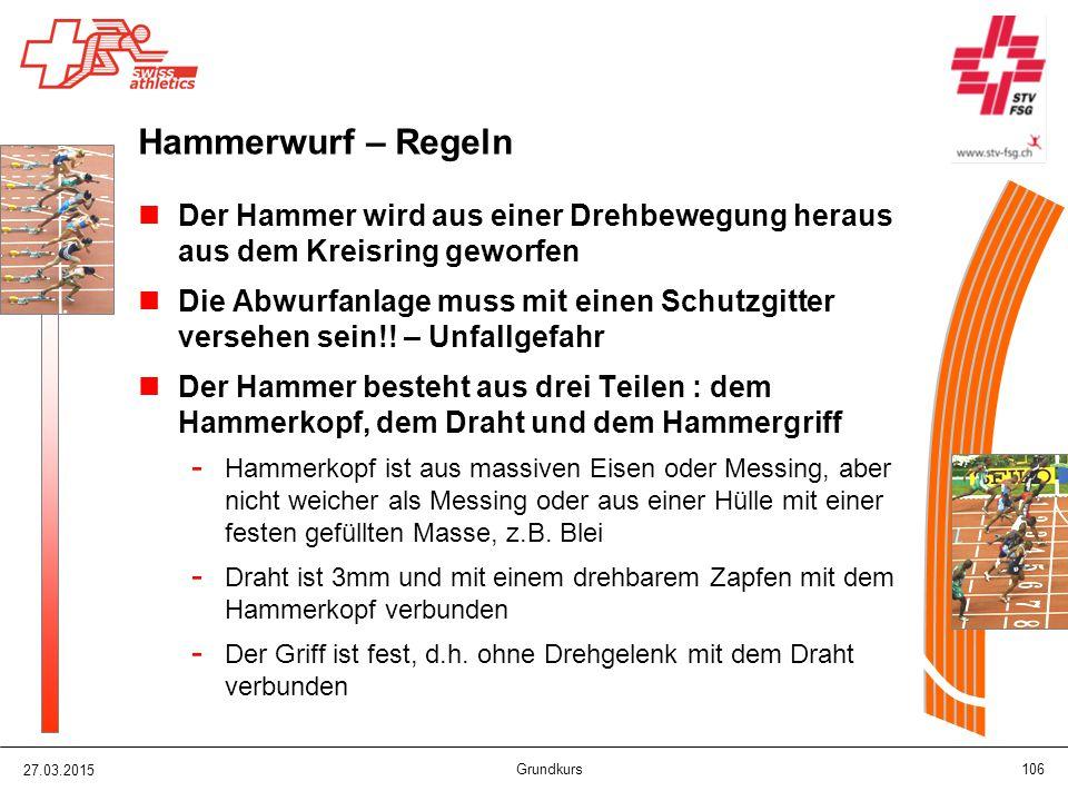 Hammerwurf – Regeln Der Hammer wird aus einer Drehbewegung heraus aus dem Kreisring geworfen.