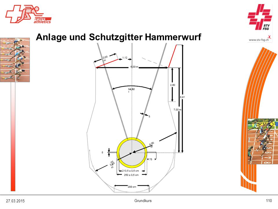 Anlage und Schutzgitter Hammerwurf
