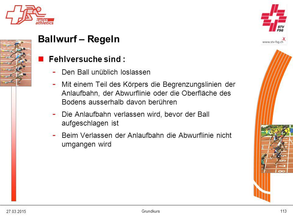 Ballwurf – Regeln Fehlversuche sind : Den Ball unüblich loslassen