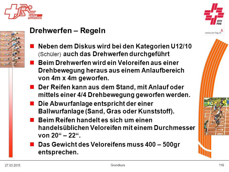 Drehwerfen – Regeln Neben dem Diskus wird bei den Kategorien U12/10 (Schüler) auch das Drehwerfen durchgeführt.
