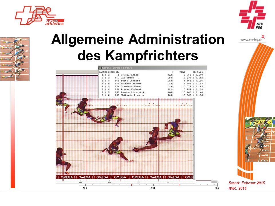 Allgemeine Administration des Kampfrichters