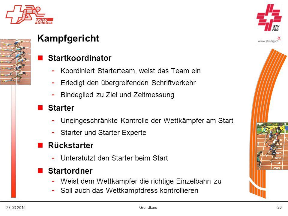 Kampfgericht Startkoordinator Starter Rückstarter Startordner