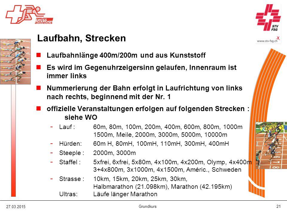 Laufbahn, Strecken Laufbahnlänge 400m/200m und aus Kunststoff
