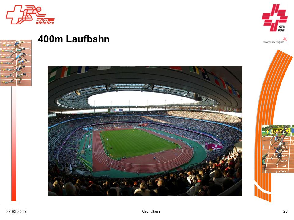 400m Laufbahn 08.04.2017 Grundkurs