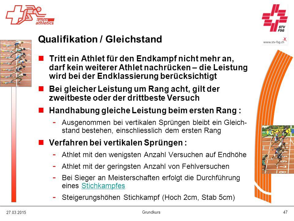 Qualifikation / Gleichstand
