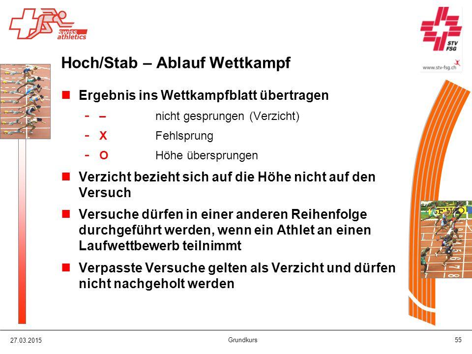 Hoch/Stab – Ablauf Wettkampf