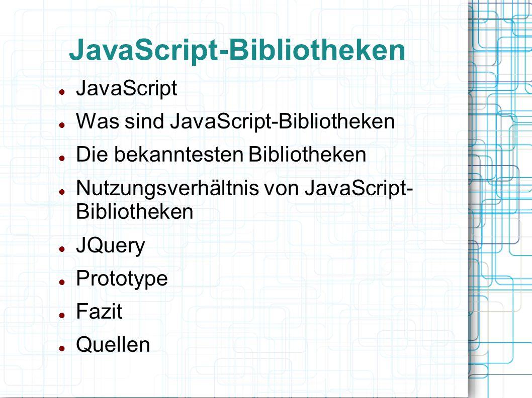 JavaScript-Bibliotheken