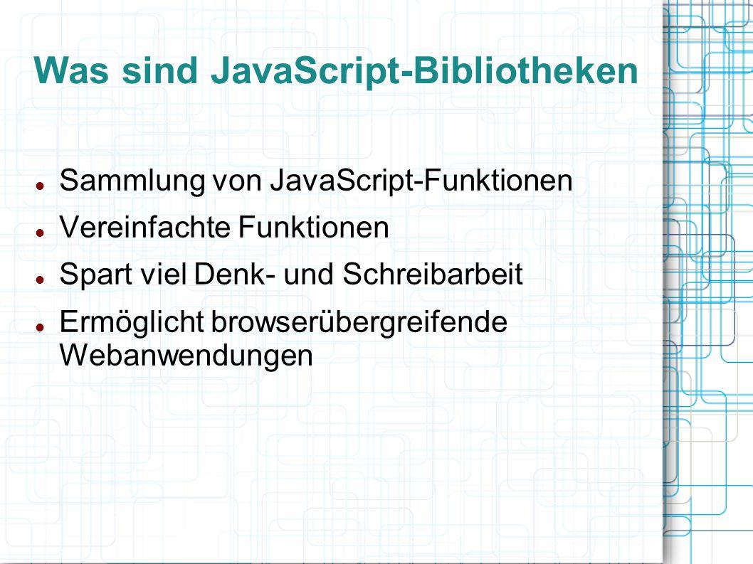 Was sind JavaScript-Bibliotheken