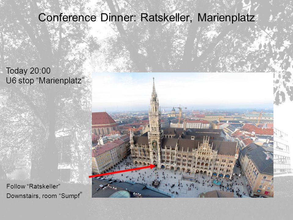 Conference Dinner: Ratskeller, Marienplatz