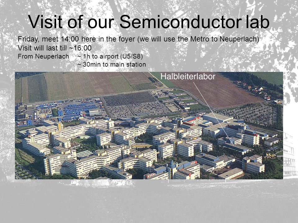 Visit of our Semiconductor lab