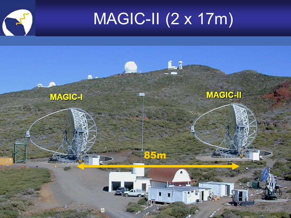 MAGIC-II (2 x 17m) MAGIC-II MAGIC-I 85m