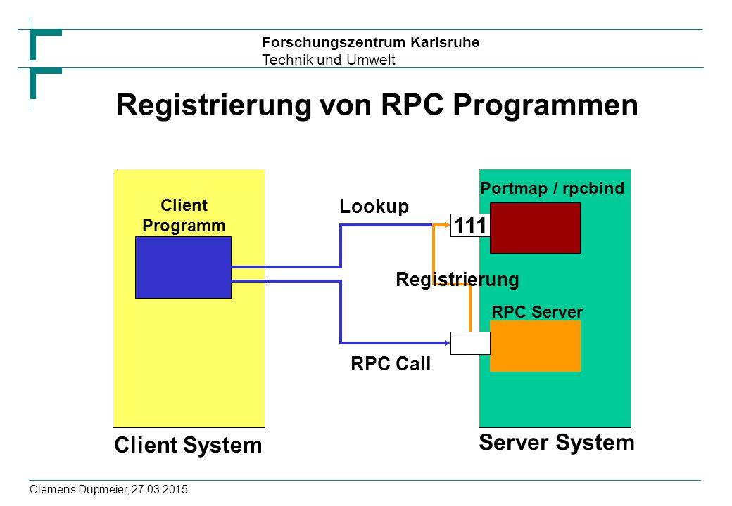 Registrierung von RPC Programmen
