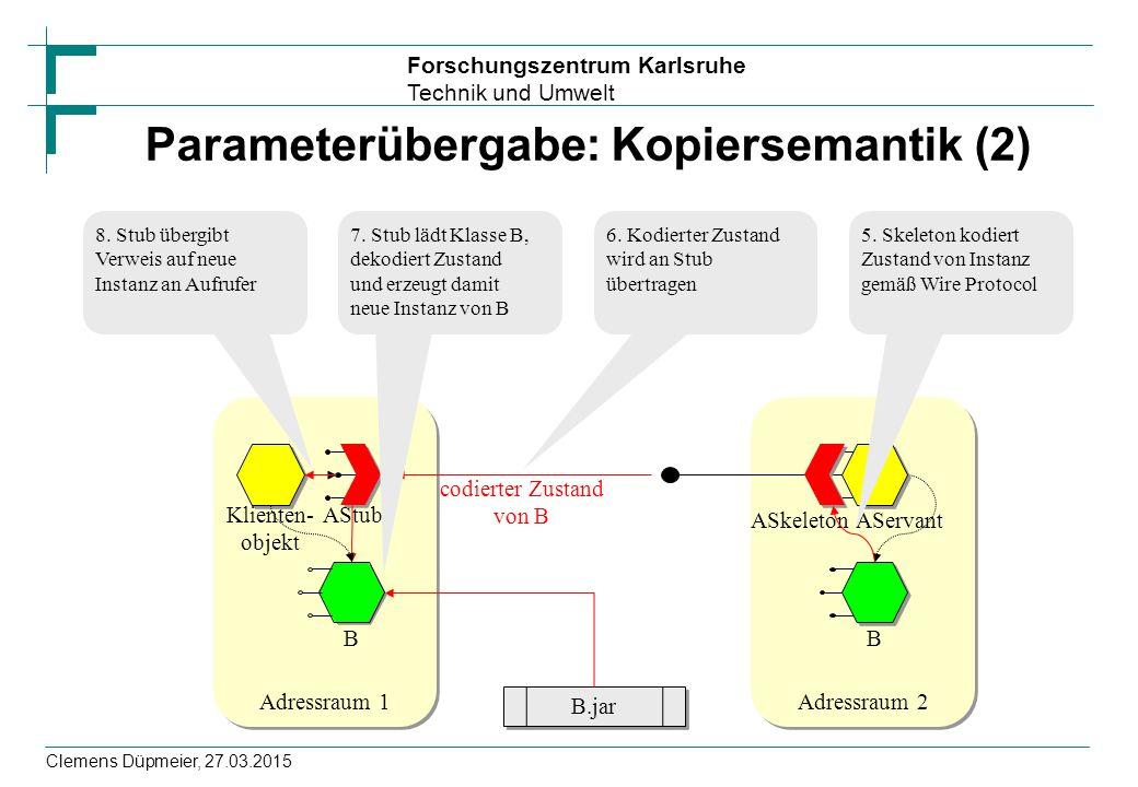 Parameterübergabe: Kopiersemantik (2)