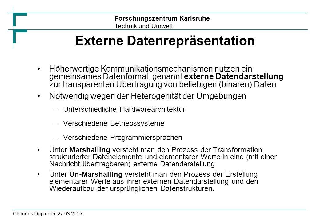 Externe Datenrepräsentation