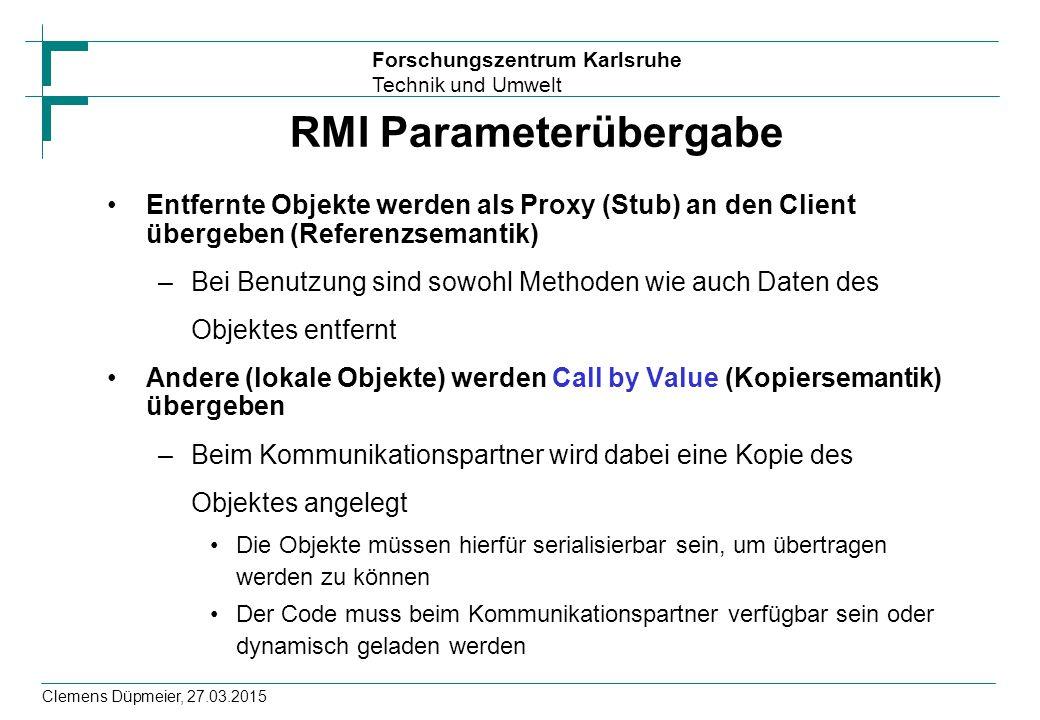 RMI Parameterübergabe