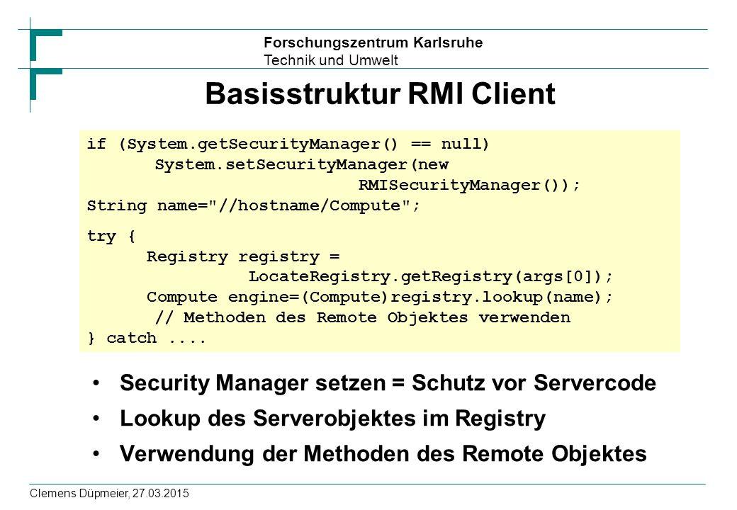 Basisstruktur RMI Client