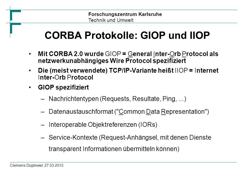 CORBA Protokolle: GIOP und IIOP