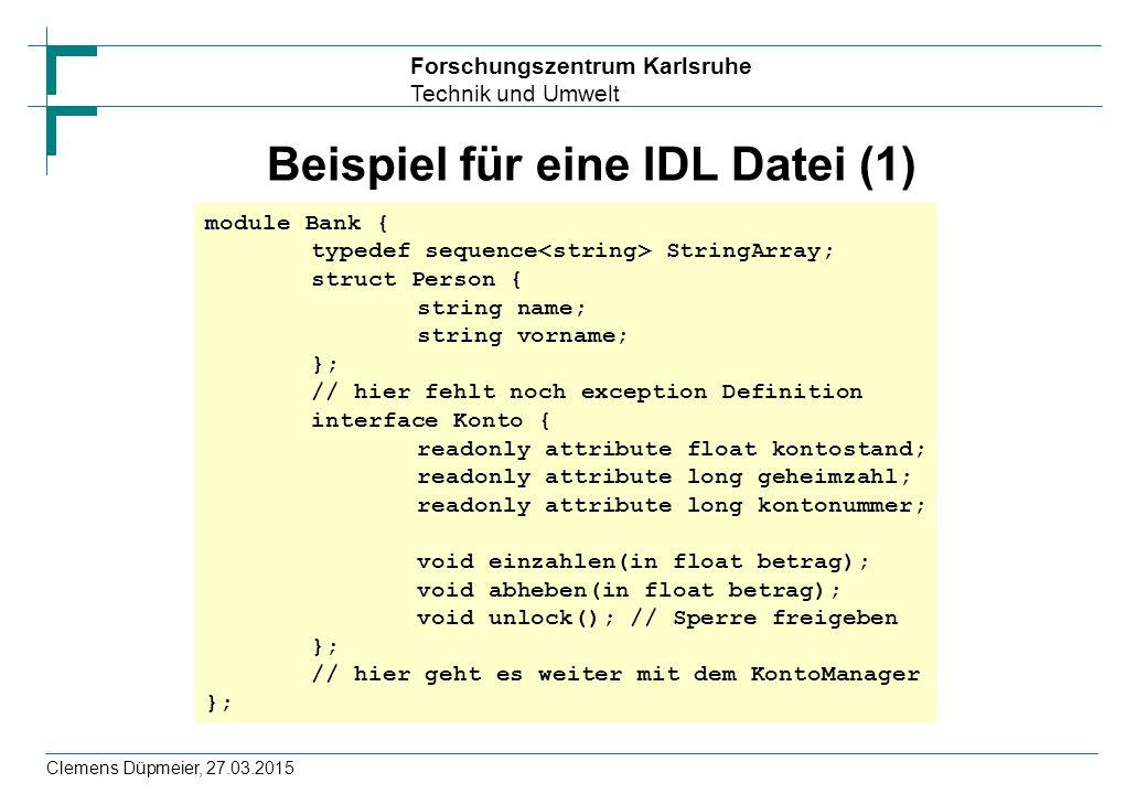 Beispiel für eine IDL Datei (1)