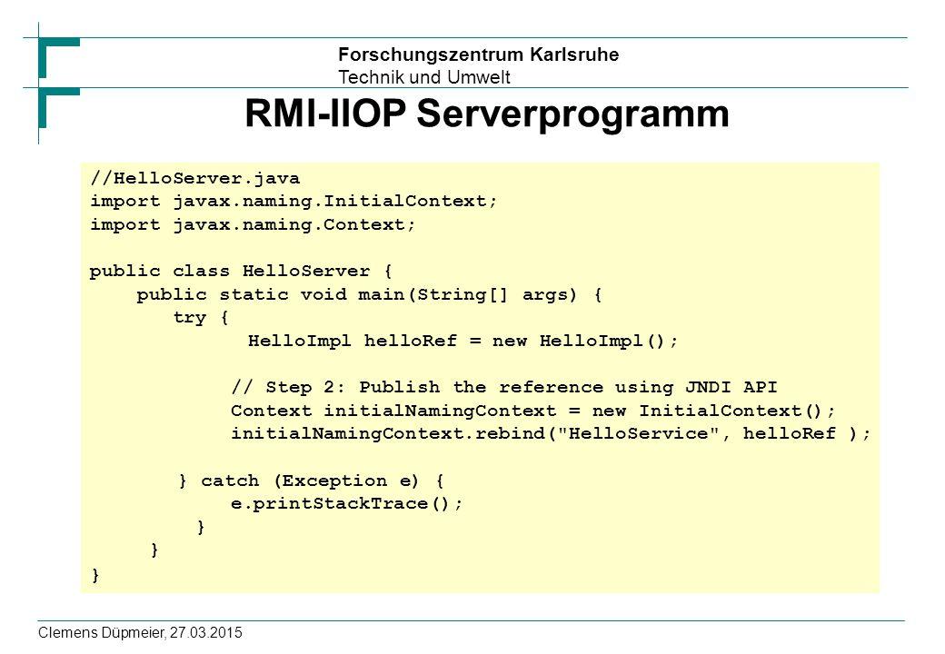 RMI-IIOP Serverprogramm