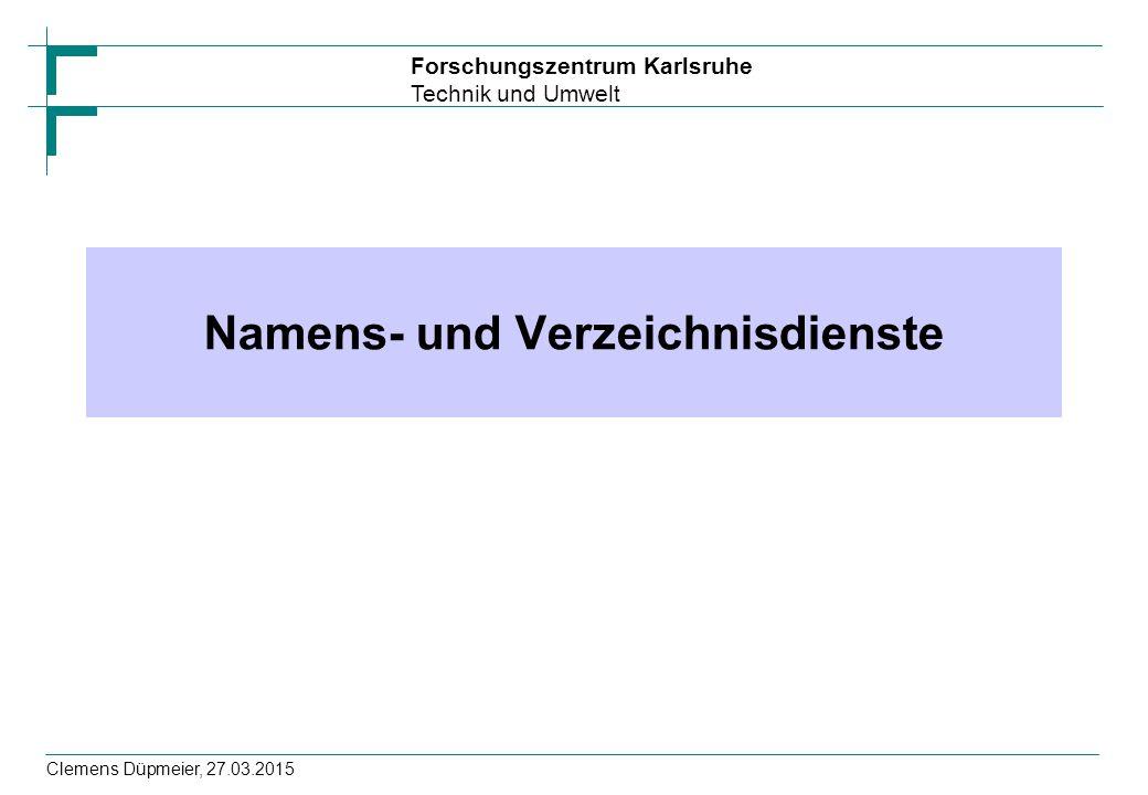 Namens- und Verzeichnisdienste