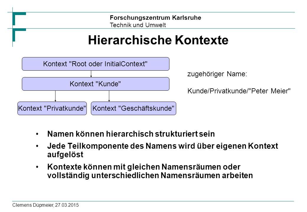 Hierarchische Kontexte