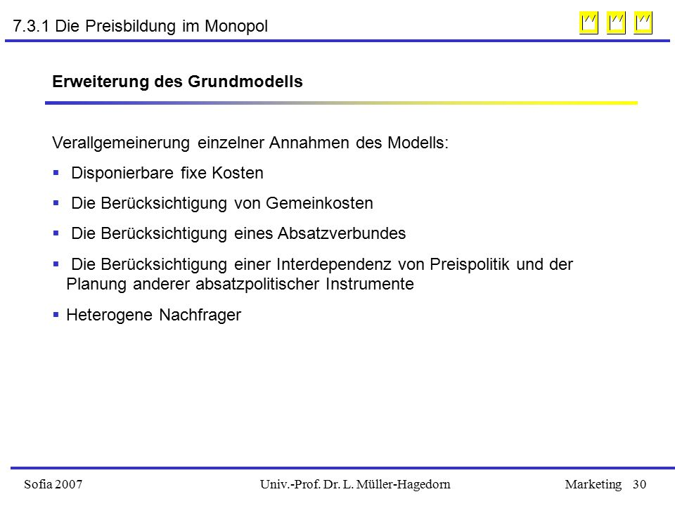 7.3.1 Die Preisbildung im Monopol