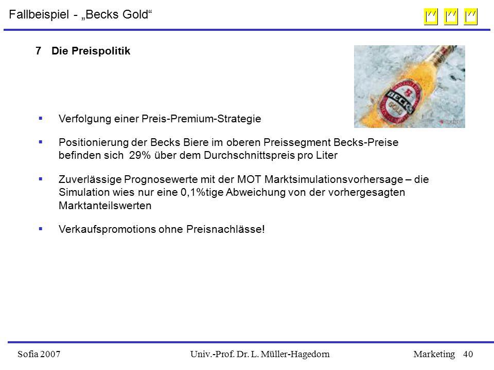"""Fallbeispiel - """"Becks Gold"""