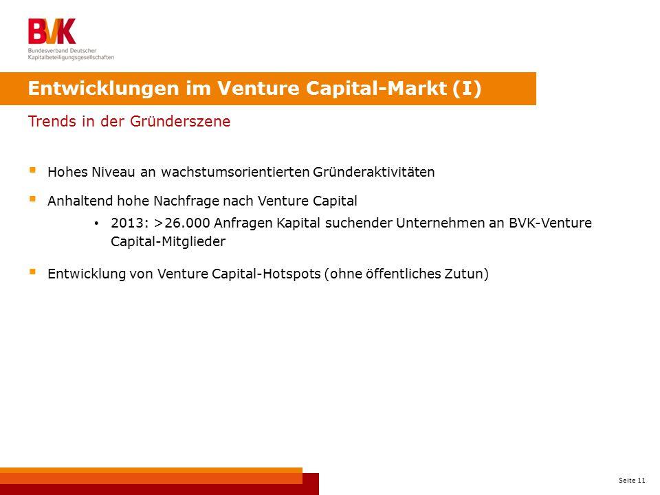 Entwicklungen im Venture Capital-Markt (I)