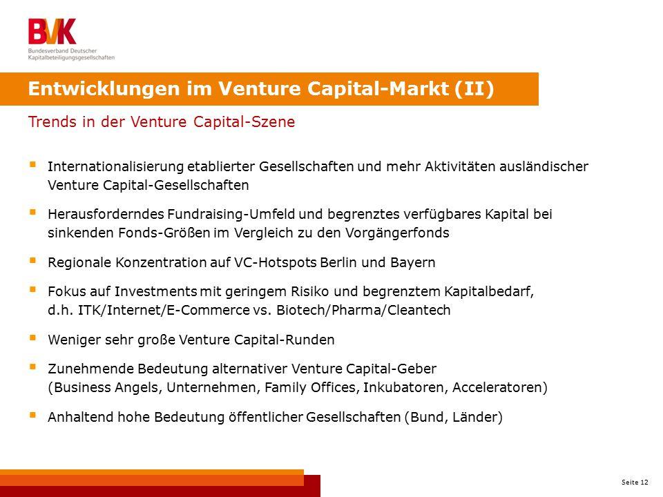 Entwicklungen im Venture Capital-Markt (II)