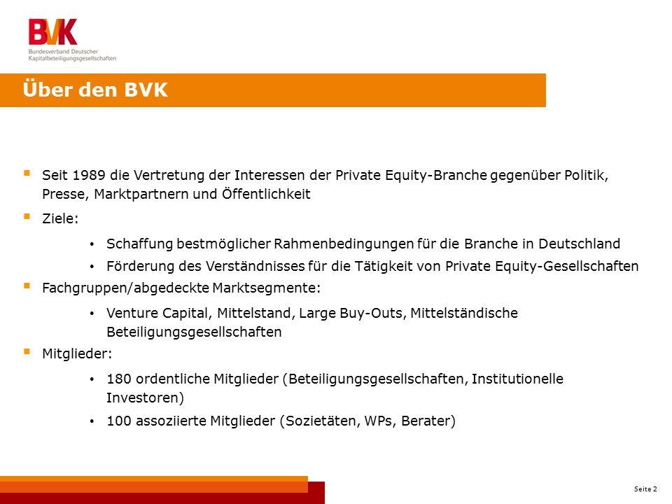 Über den BVK Seit 1989 die Vertretung der Interessen der Private Equity-Branche gegenüber Politik, Presse, Marktpartnern und Öffentlichkeit.
