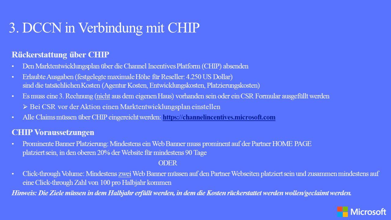 3. DCCN in Verbindung mit CHIP