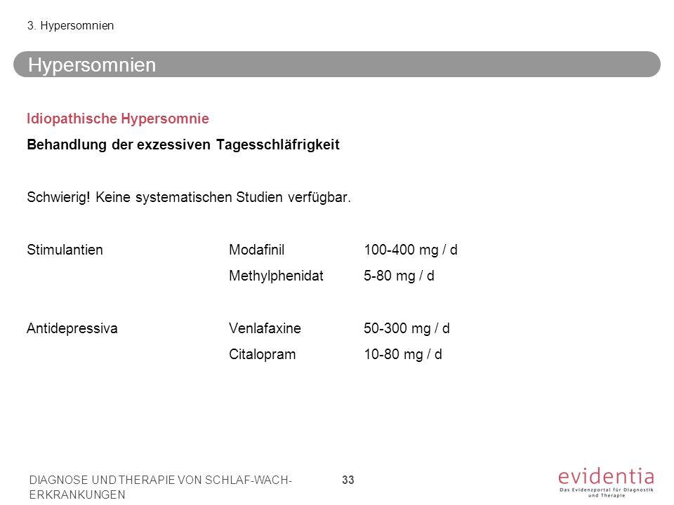 Hypersomnien Idiopathische Hypersomnie