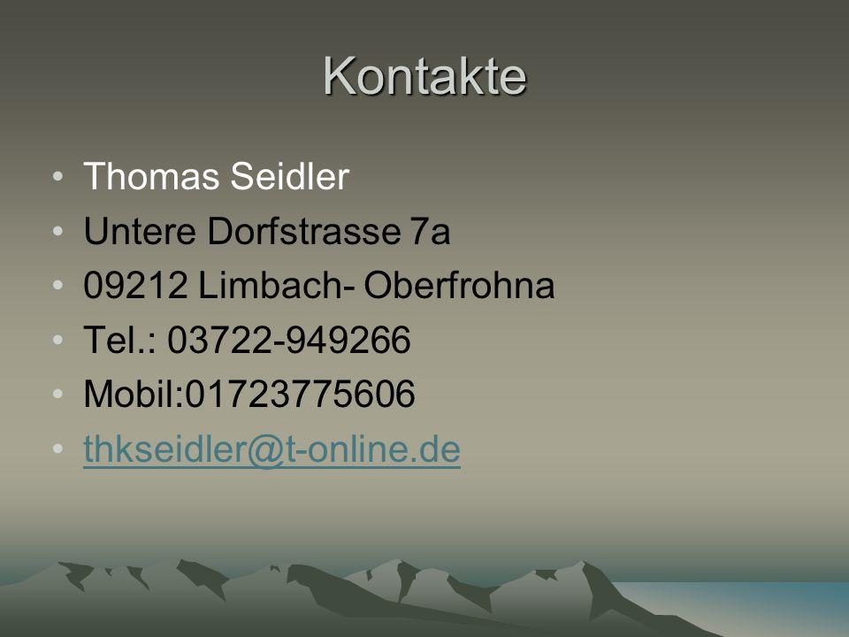 Kontakte Thomas Seidler Untere Dorfstrasse 7a