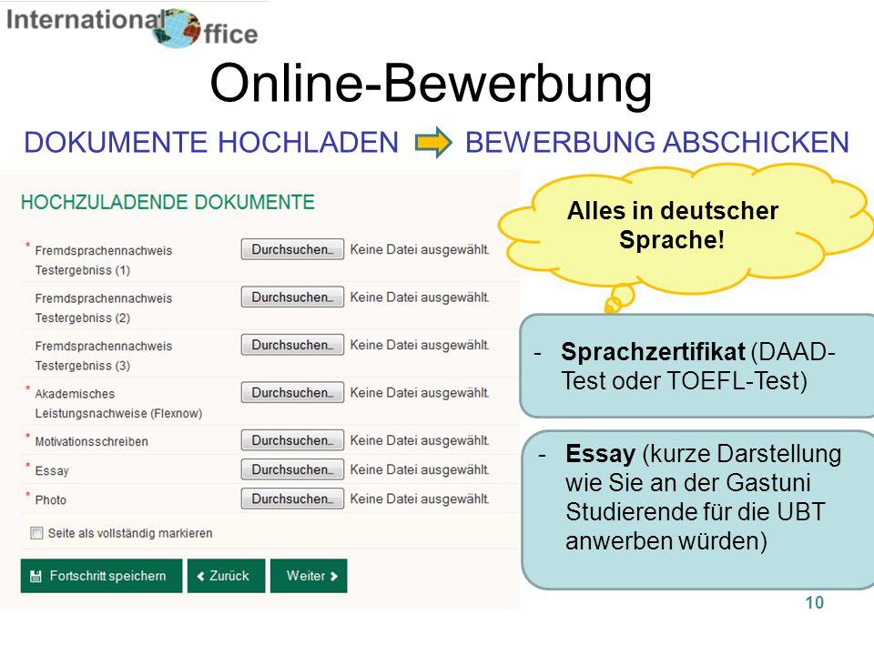 Alles in deutscher Sprache!