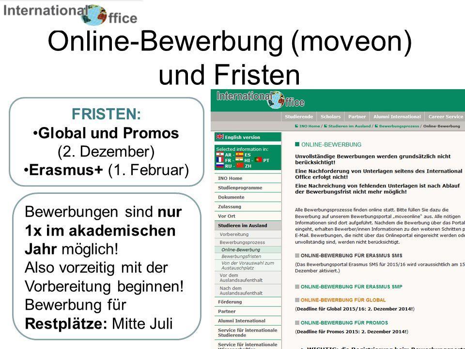 Online-Bewerbung (moveon) und Fristen