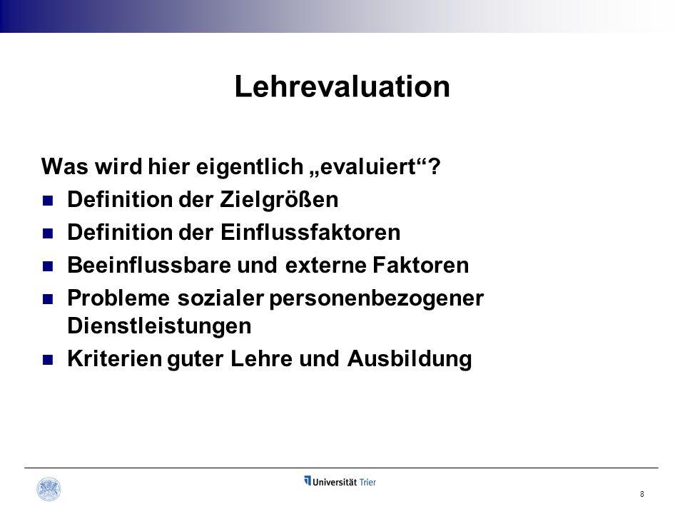 """Lehrevaluation Was wird hier eigentlich """"evaluiert"""